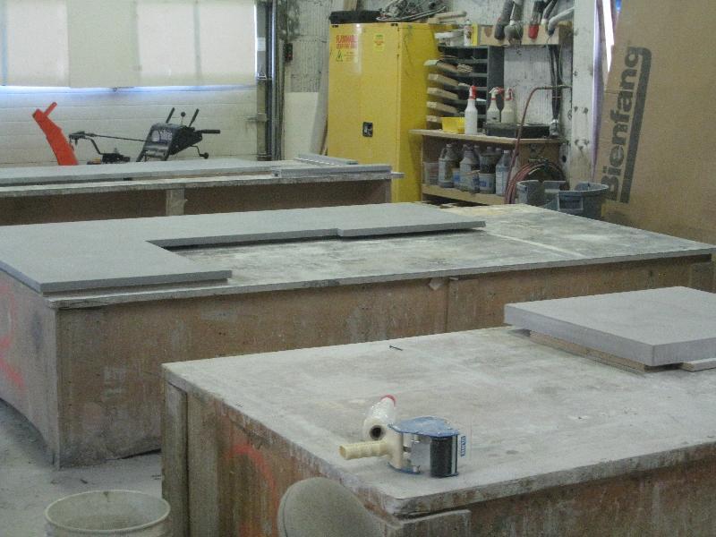 Concrete Counter Fabrication Process