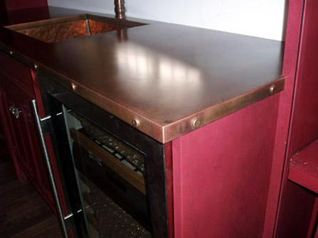 Copper Applications in Interior Design Wet Bar