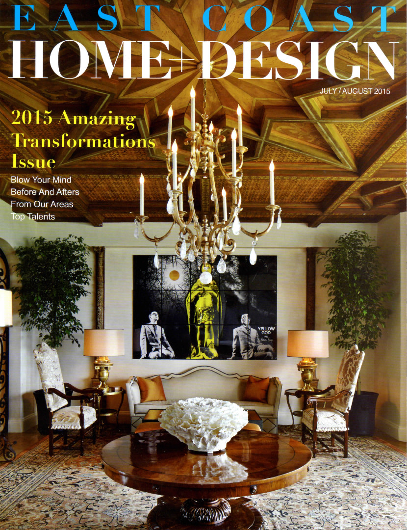East Coast Home + Design July August 2015 - Cover