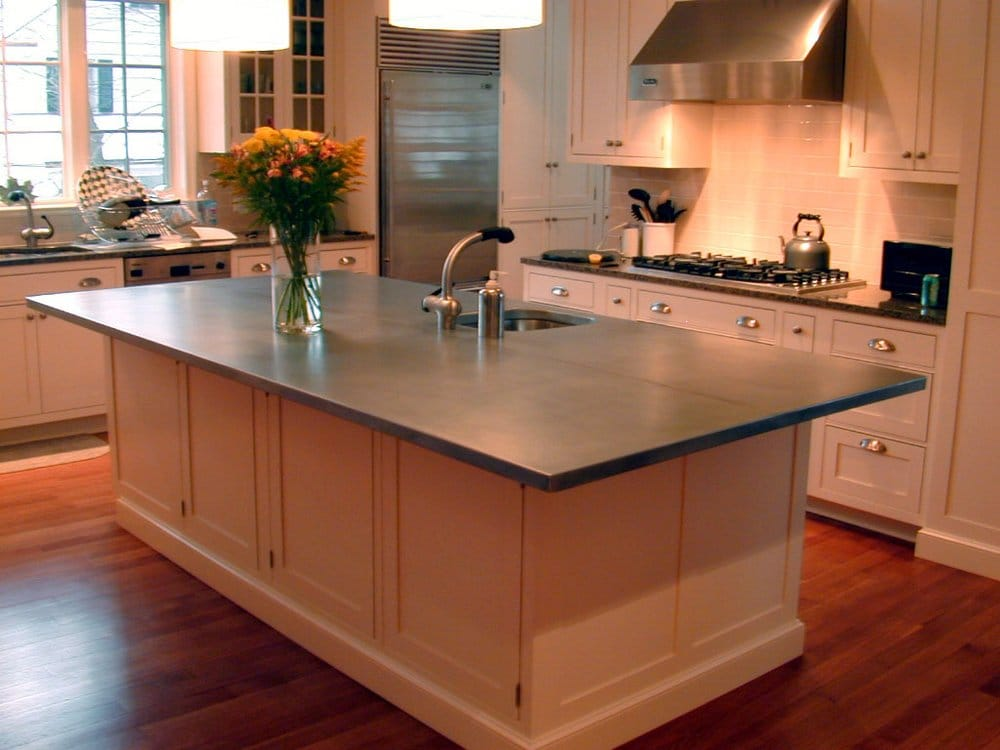 zinc counter tops