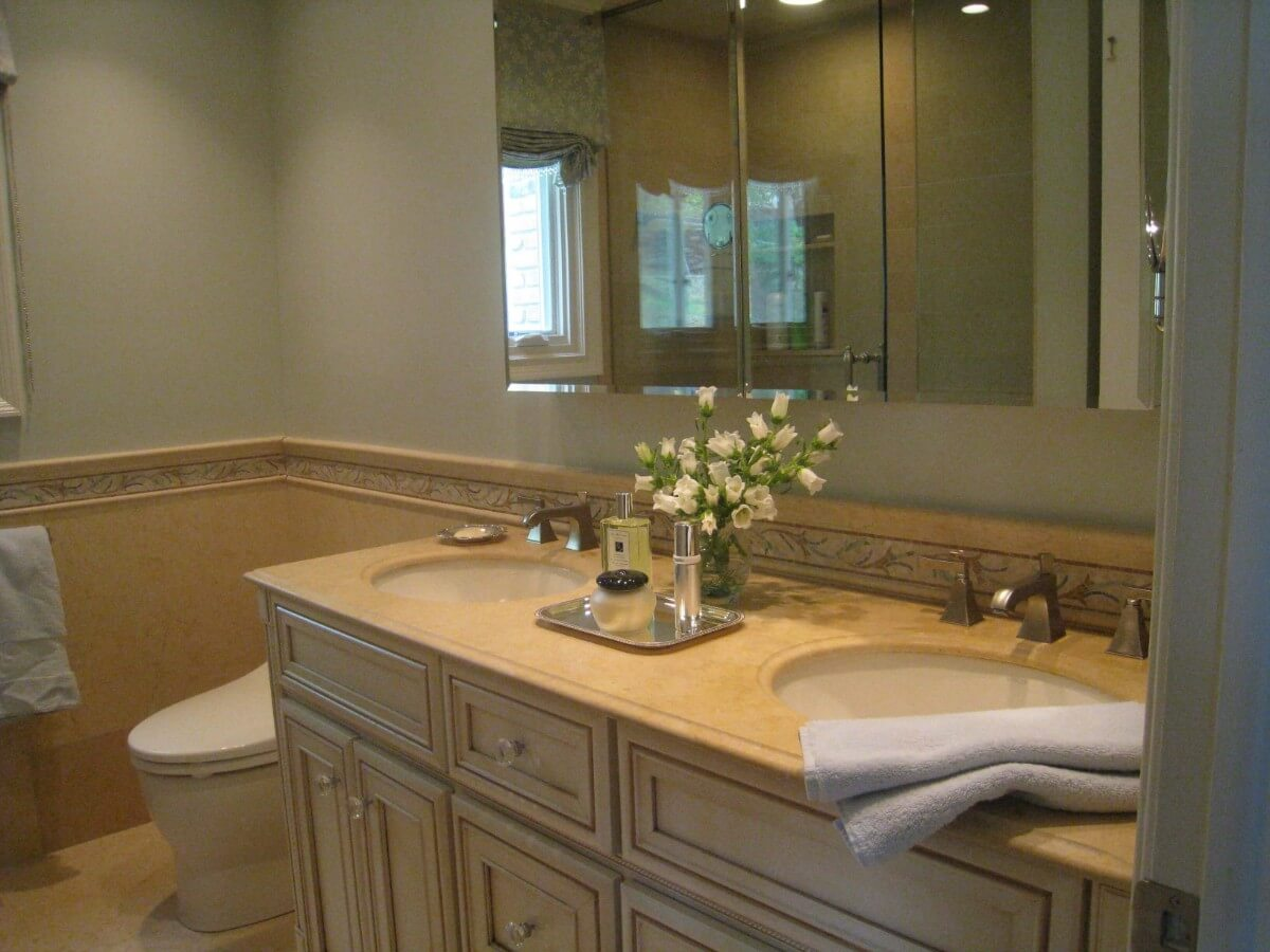 Master Bathroom Remodel by Susan Marocco Interiors - Harrison NY 1516