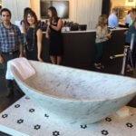 Bathroom Design Marble Tub - Susan Marocco Interiors