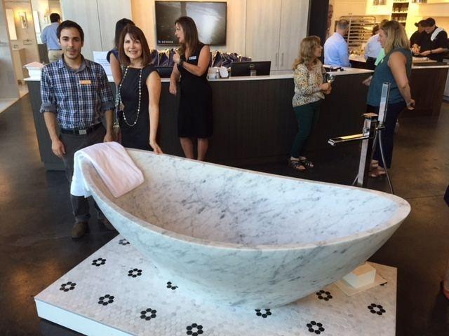 Bathroom Designer Marble Tub - Susan Marocco Interiors