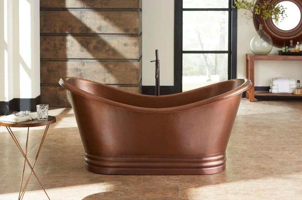 Copper Bathroom Tub - Susan Marocco Interiors