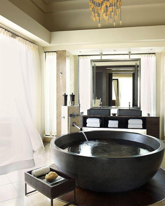 Round Stone Tub - Susan Marocco Interiors