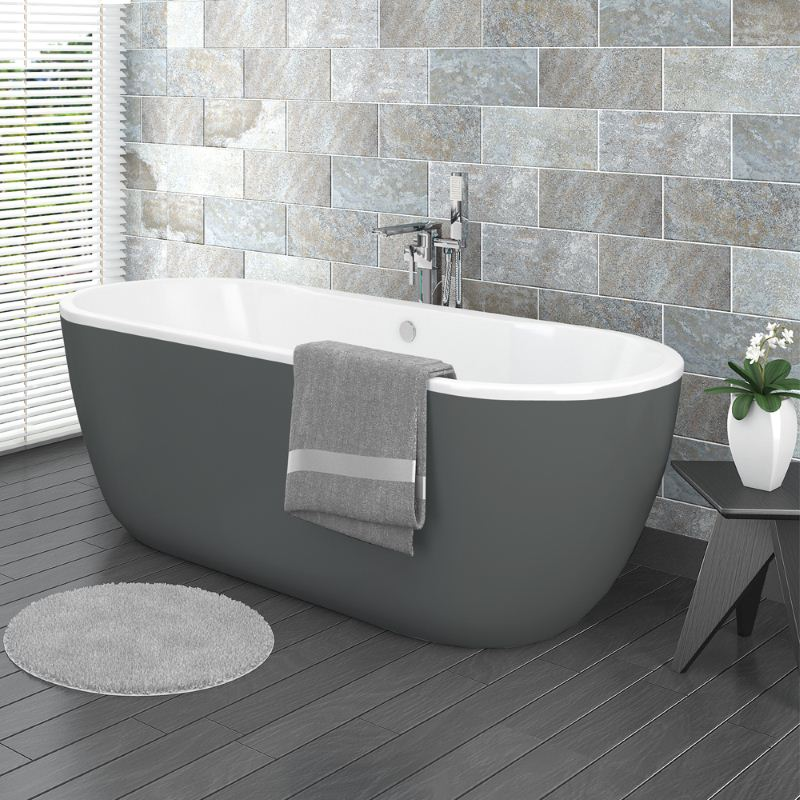 Verona-Grey-Freestanding-Modern-Bathtub - Susan Marocco Interiors