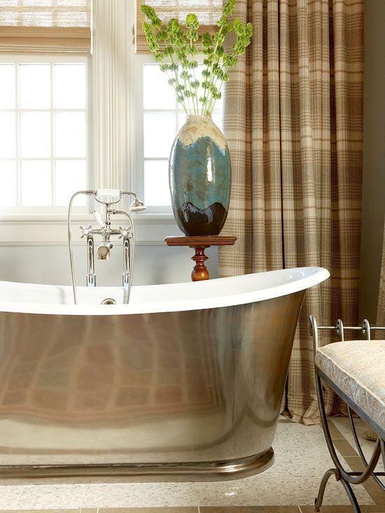 Zinc Bathtub - Susan Marocco Interiors