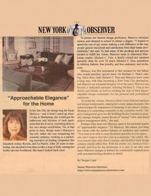 New York Observer - October 27, 2008