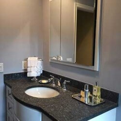sink and mirror