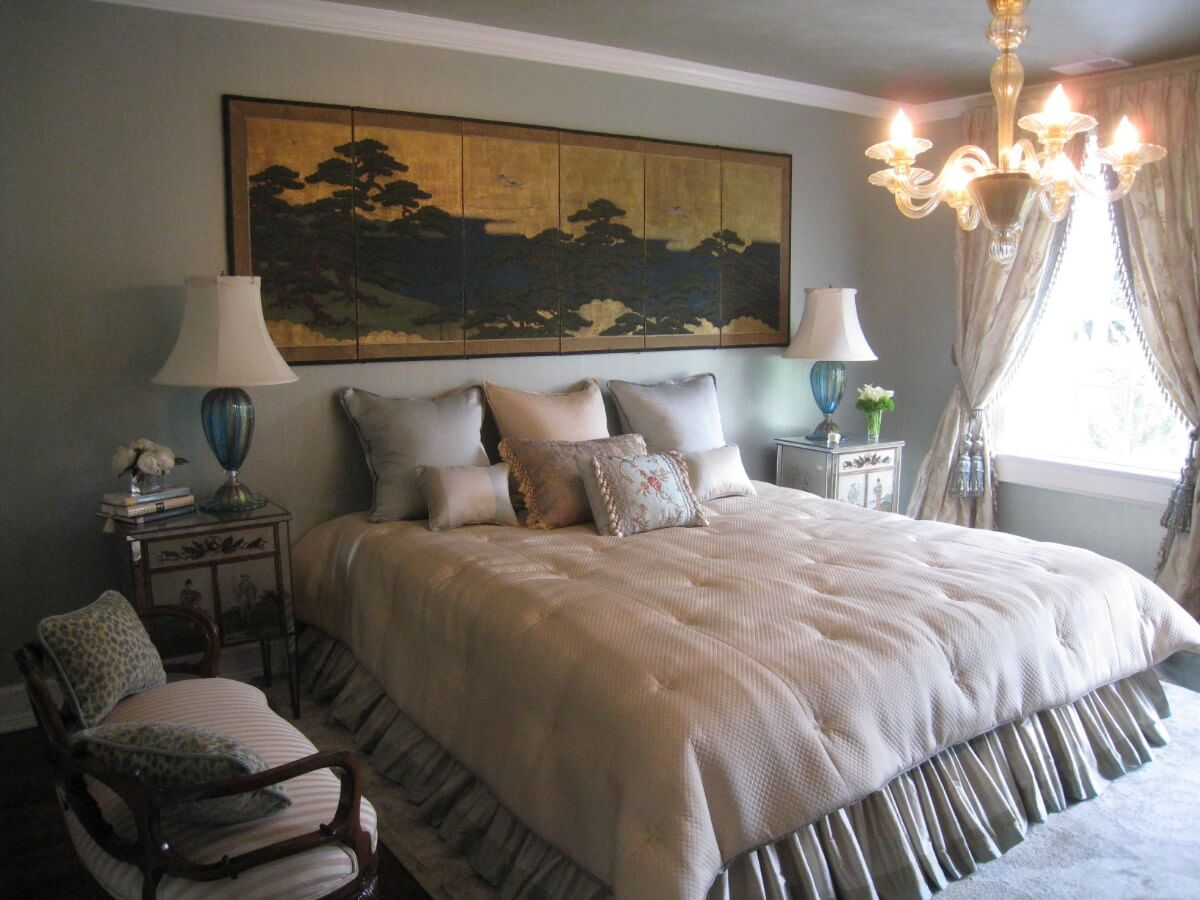 2525 Show House Bedroom Design by Susan Marocco Interiors - Bedford NY
