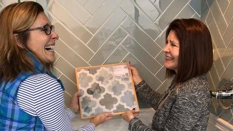 Susan Marocco Interiors Bathroom Remodel Tile