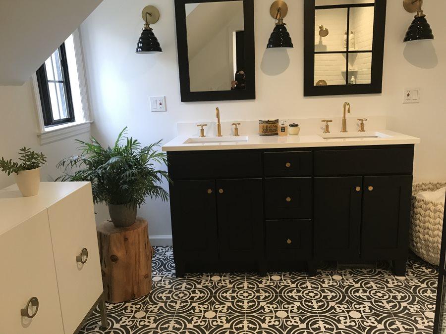 Bathroom Sink Renovation After - Susan Marocco Interiors