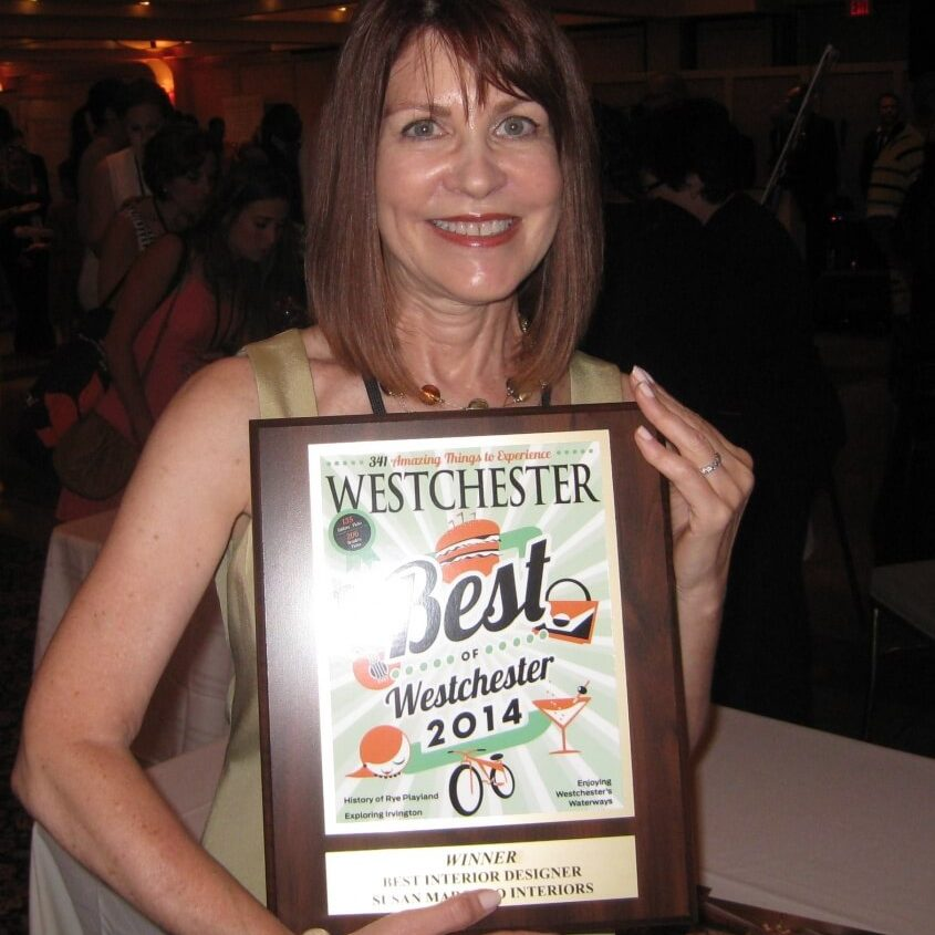 Best of Westchester 2014 - Susan Marocco with plaque